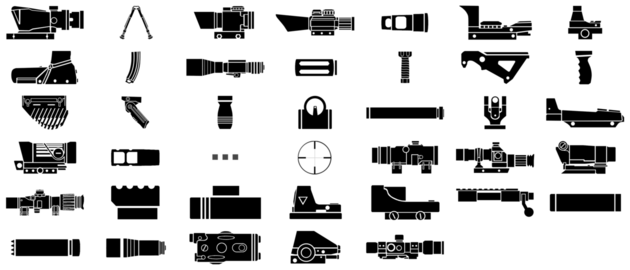 Weapon accessories icons